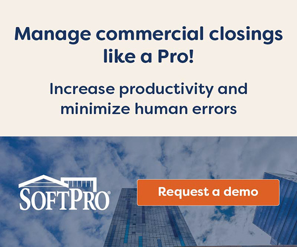 SoftPro is the nation's leading provider of real estate closing and title insurance software. With more than 14,000 customer sites and over 60,000 users nationwide, this award-winning software offers a suite of products designed to increase your volume and revenue by reducing the time it takes to do closings. SoftPro has been recognized by the American Business Awards every year since 2007 - winning awards for Superior Customer Service, Support and Product Development.