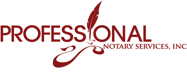 Professional Notary Services Logo